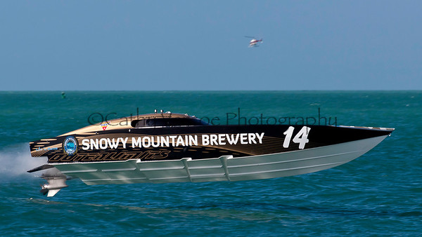 Snowy Mountain Brewery at the Superboat International Key West World Offshore Powerboat Championship in Key West Florida USA 2012. Cathy Vercoe LuvMyBoat.com