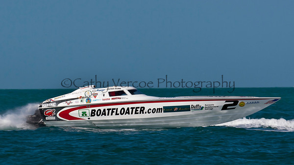 Scott Free Racing at the Superboat International Key West World Offshore Powerboat Championship in Key West Florida USA 2012. Cathy Vercoe LuvMyBoat.com