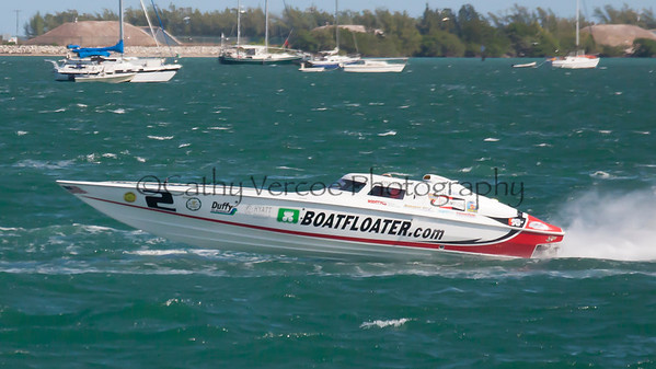 Boatfloater.com at the 2013 SBI Superboat International Offshore Powerboat World Championships at Key West, Florida, USA. Cathy Vercoe LuvMyBoat.com