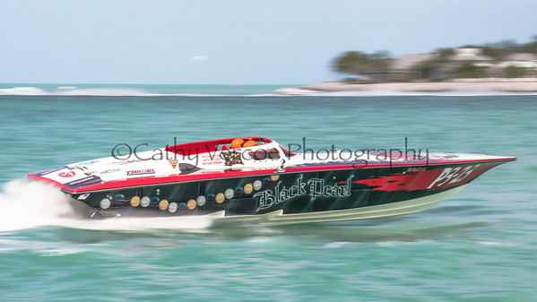 Black Pearl competes at the 2013 SBI Superboat International Offshore Powerboat World Championships at Key West, Florida, USA. Cathy Vercoe LuvMyBoat.com