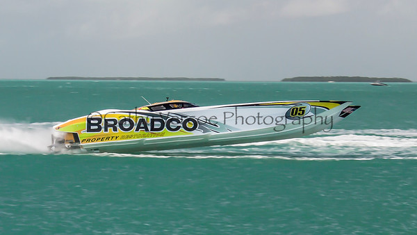 Broadco at the 2013 SBI Superboat International Offshore Powerboat World Championships at Key West, Florida, USA. Cathy Vercoe LuvMyBoat.com