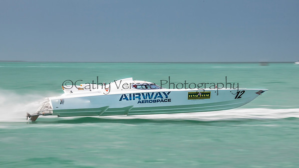 Airway Aerospace at the 2013 SBI Superboat International Offshore Powerboat World Championships at Key West, Florida, USA. Cathy Vercoe LuvMyBoat.com