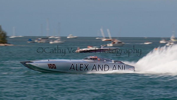 Alex & Ani races at the 2013 SBI Superboat International Offshore Powerboat World Championships at Key West, Florida, USA. Cathy Vercoe LuvMyBoat.com