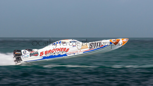 5 Brothers Grocery at the 2013 SBI Superboat International Offshore Powerboat World Championships at Key West, Florida, USA. Cathy Vercoe LuvMyBoat.com
