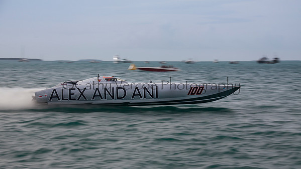 Alex & Ani racing at the 2013 SBI Superboat International Offshore Powerboat World Championships at Key West, Florida, USA. Cathy Vercoe LuvMyBoat.com