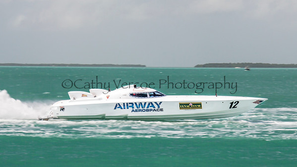 Airway Aerospace competes at the 2013 SBI Superboat International Offshore Powerboat World Championships at Key West, Florida, USA. Cathy Vercoe LuvMyBoat.com