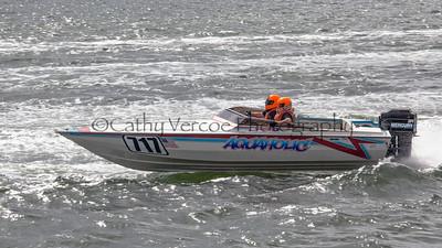 Aquaholic racing at the OPA Offshore World Championships at Solomon Island in Maryland USA. Image 11 Cathy Vercoe LuvMyBoat.com