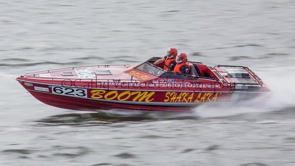 Boom Shaka Laka racing at the OPA Offshore World Championships at Solomon Island in Maryland USA.  Image 18 Cathy Vercoe LuvMyBoat.com