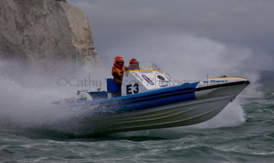 No E3 RIB ' My Pleasure II' at the P1 Powerboat RIB race from Lymington 2010.