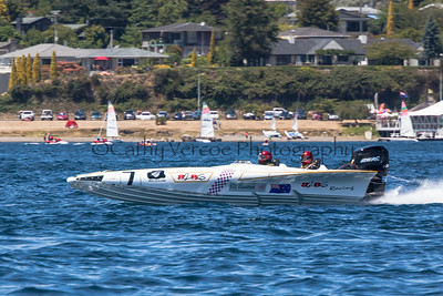 Back2Bay6 races past at the first race of the 2013 New Zealand Offshore Powerboat Racing season on Lake Taupo. Cathy Vercoe LuvMyBoat.com