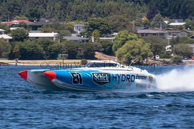 Schick Hydro speeding at the first race of the 2013 New Zealand Offshore Powerboat Racing season on Lake Taupo. Cathy Vercoe LuvMyBoat.com