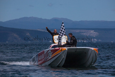 Fairview are the winners at the first race of the 2013 New Zealand Offshore Powerboat Racing season on Lake Taupo. Cathy Vercoe LuvMyBoat.com