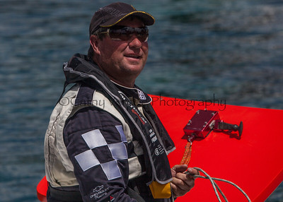 Wayne Valder at the first race of the 2013 New Zealand Offshore Powerboat Racing season on Lake Taupo. Cathy Vercoe LuvMyBoat.com