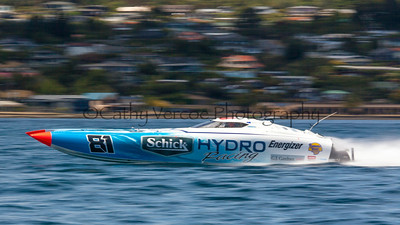 Schick Hydro at the first race of the 2013 New Zealand Offshore Powerboat Racing season on Lake Taupo. Cathy Vercoe LuvMyBoat.com