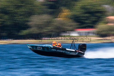 NZ Home Loans speeds past at the first race of the 2013 New Zealand Offshore Powerboat Racing season on Lake Taupo. Cathy Vercoe LuvMyBoat.com