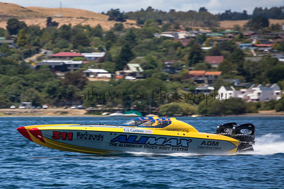 Alimax competes at the first race of the 2013 New Zealand Offshore Powerboat Racing season on Lake Taupo. Cathy Vercoe LuvMyBoat.com