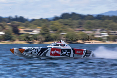 Fujitsu at the first race of the 2013 New Zealand Offshore Powerboat Racing season on Lake Taupo. Cathy Vercoe LuvMyBoat.com