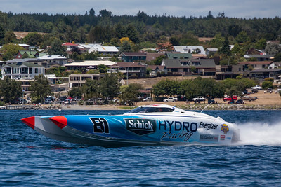 Schick Hydro speeds at the first race of the 2013 New Zealand Offshore Powerboat Racing season on Lake Taupo. Cathy Vercoe LuvMyBoat.com