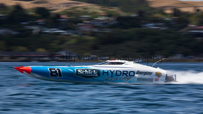 Schick Hydro competes at the first race of the 2013 New Zealand Offshore Powerboat Racing season on Lake Taupo. Cathy Vercoe LuvMyBoat.com
