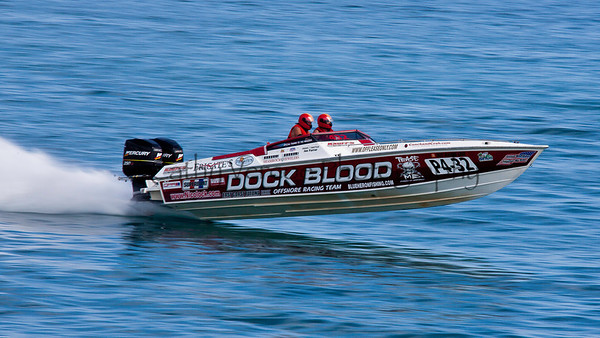 Blood Dock at the 2012  OPA Palm Beach Offshore Powerboat World Championship held at Juno Beach, Jupiter, Florida USA.. Cathy Vercoe