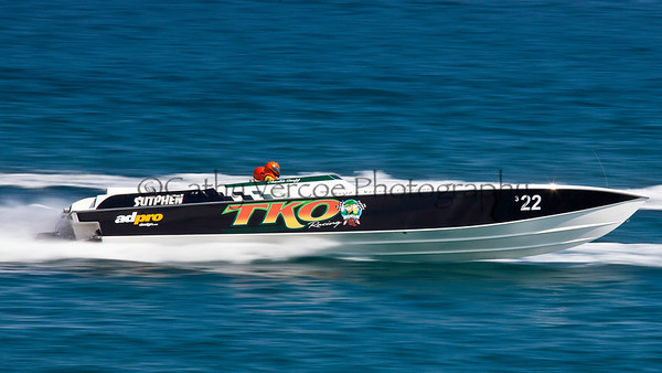 TKO Racing at the 2012  OPA Palm Beach Offshore Powerboat World Championship held at Juno Beach, Jupiter, Florida USA.. Cathy Vercoe