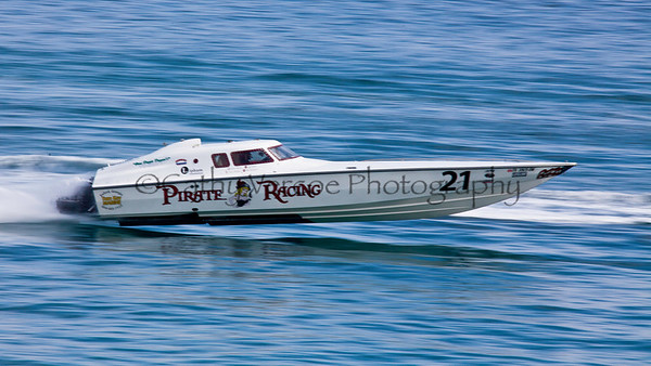 Pirate Racing at the 2012  OPA Palm Beach Offshore Powerboat World Championship held at Juno Beach, Jupiter, Florida USA.. Cathy Vercoe