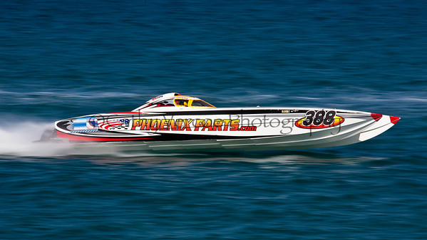 Phoenix Parts races at the 2012  OPA Palm Beach Offshore Powerboat World Championship held at Juno Beach, Jupiter, Florida USA.. Cathy Vercoe