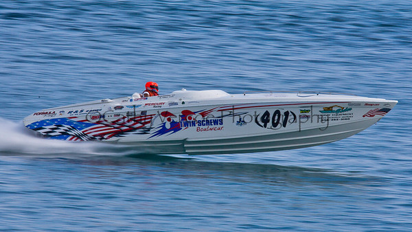 Twin Screws at the 2012  OPA Palm Beach Offshore Powerboat World Championship held at Juno Beach, Jupiter, Florida USA.. Cathy Vercoe