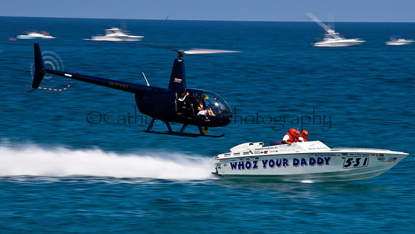 Whoz Your Daddy at the 2012  OPA Palm Beach Offshore Powerboat World Championship held at Juno Beach, Jupiter, Florida USA.. Cathy Vercoe