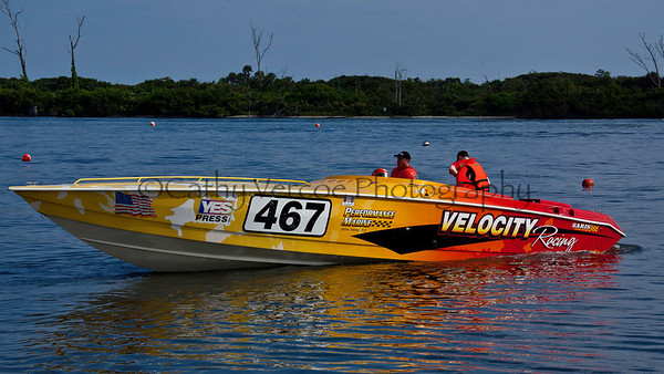 Velocity Racing at the 2012  OPA Palm Beach Offshore Powerboat World Championship held at Juno Beach, Jupiter, Florida USA.. Cathy Vercoe