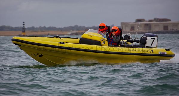 No 7 RIB 'Creating the Magic' at the P1 Powerboat RIB race from Lymington 2010.