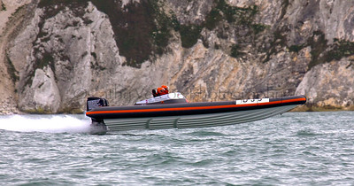 No D99 RIB flies at the P1 Powerboat RIB race from Lymington 2010.