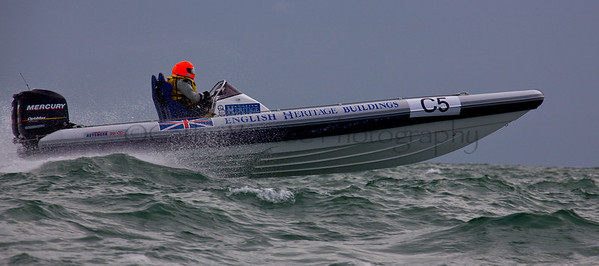 No C5 'English Heritage Buildings' at the P1 Powerboat RIB race from Lymington 2010.