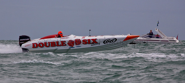 Double Six at the P1 Powerboat Superstock race from Lymington 2010.
