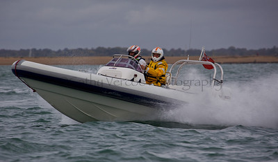 No 14 RIB races at the P1 Powerboat RIB race from Lymington 2010.