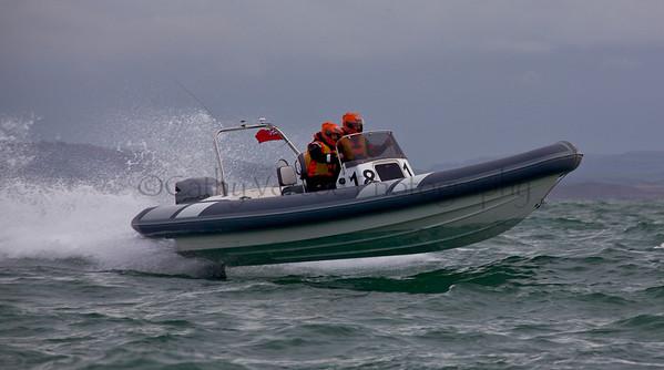 No 18 RIB at the P1 Powerboat RIB race from Lymington 2010.