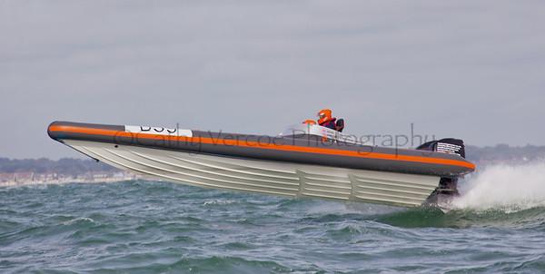 No D99 RIB races at the P1 Powerboat RIB race from Lymington 2010.