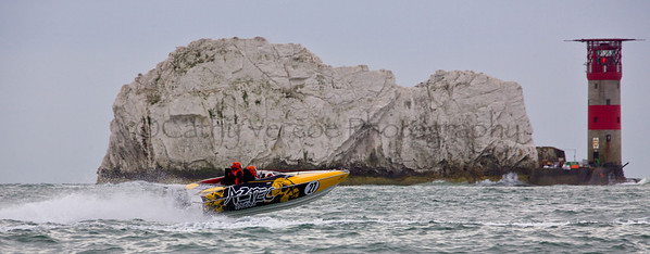 Aztec at the P1 Powerboat Superstock race from Lymington 2010.