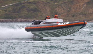 No D99 RIB at the P1 Powerboat RIB race from Lymington 2010.