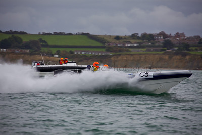 No C5 RIB 'English Heritage Buildings' and Bladerunner race at the P1 Powerboat RIB race from Lymington 2010.