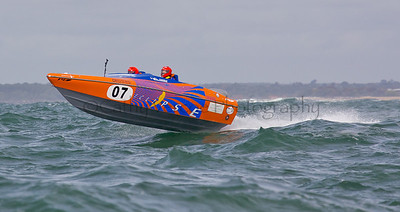 Eclipse racing at the P1 Powerboat Superstock race from Lymington 2010.