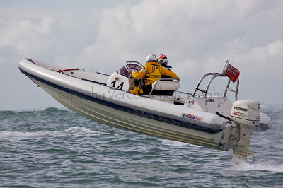 No 14 RIB at the P1 Powerboat RIB race from Lymington 2010.