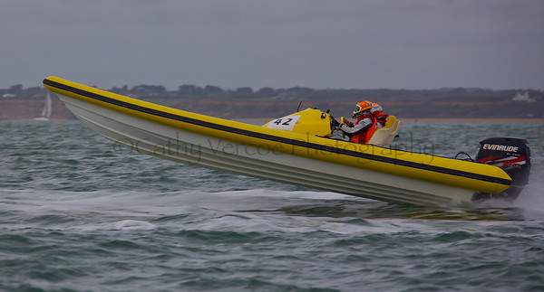No 42 RIB at the P1 Powerboat RIB race from Lymington 2010.