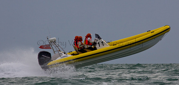No 11 RIB races at the P1 Powerboat RIB race from Lymington 2010.