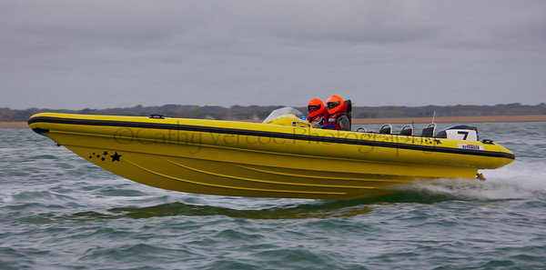 No 7 RIB 'Creating the Magic' races at the P1 Powerboat RIB race from Lymington 2010.
