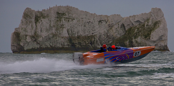 Eclipse races at the P1 Powerboat Superstock race from Lymington 2010.