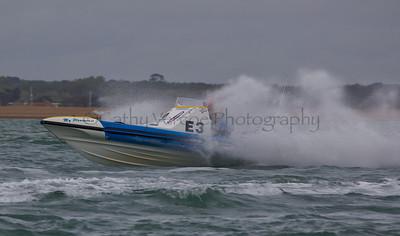 No E3 RIB ' My Pleasure II' races at the P1 Powerboat RIB race from Lymington 2010.