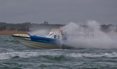 No E3 RIB ' My Pleasure II' races at the P1 Powerboat RIB race from Lymington 2010.