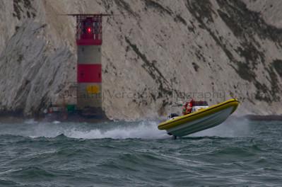 No 11 RIB at the P1 Powerboat RIB race from Lymington 2010.