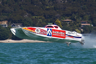 The Superboat Fairview races at the NZOffshore Powerboat Association Nationals Round 5 in Whitianga  2011
